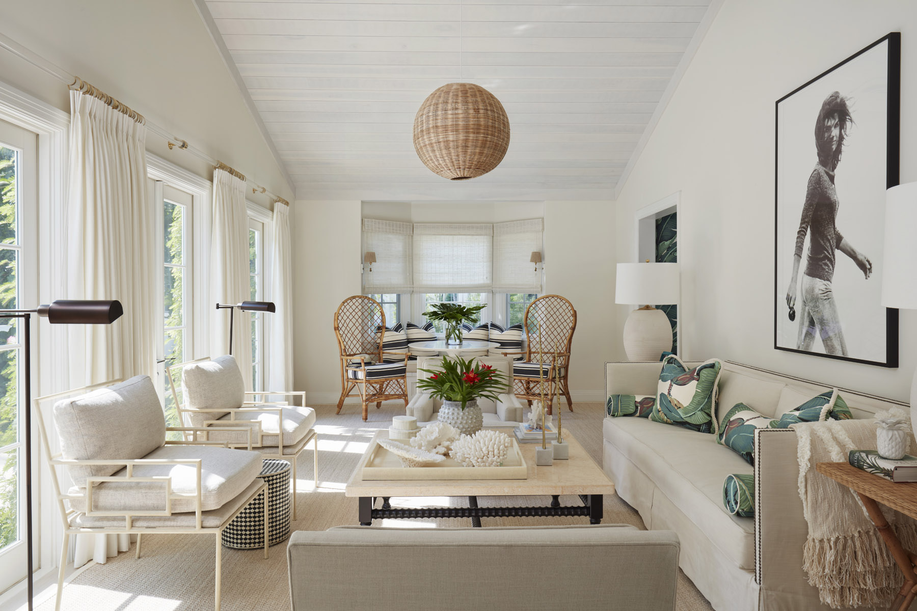 Tour the laid-back lush Palm Beach house that brilliantly blends minimalist neutrals with coastal flair--designed by Lindsey Lane