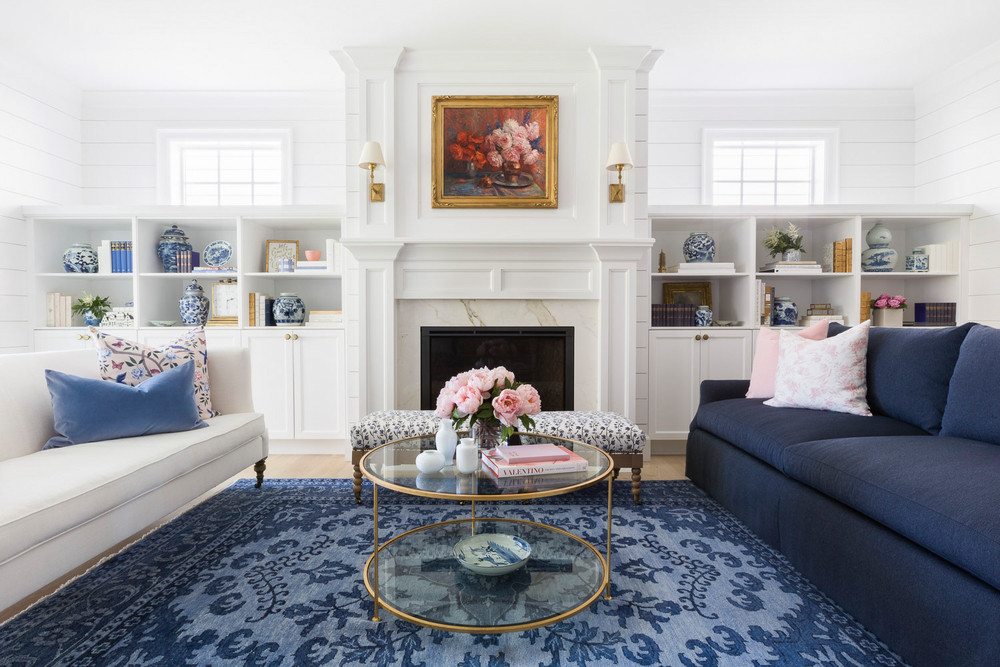 Spotlight On A Pink, White & Blue Home By Caitlin Wilson, photography by Alyssa Rosenheck