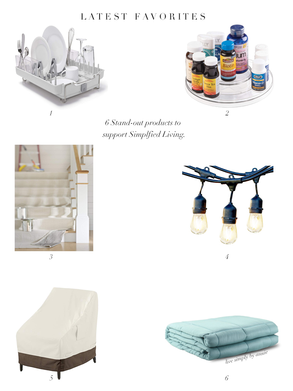 A professional organizer's stand out favorites to support Simplified Living.