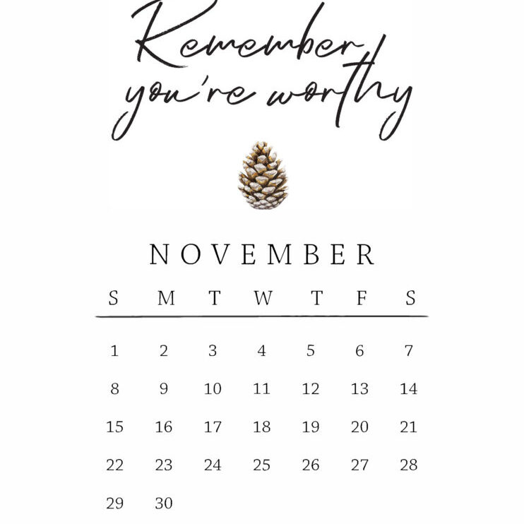 November Mantra // Live Simply by Annie
